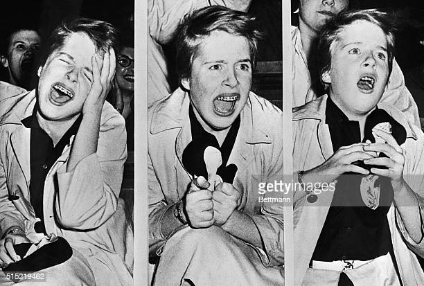 Teener Penny Taylor is an Elvis Presley fan This was her reaction when she attended a matinee perfomance by the rock n' roll idol at a Philadelphia...