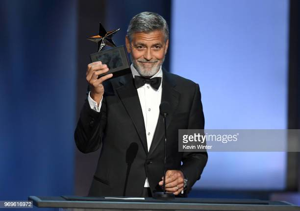 46th AFI Life Achievement Award Recipient George Clooney accepts the award onstage during the American Film Institute's 46th Life Achievement Award...