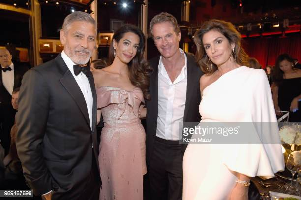46th AFI Life Achievement Award Recipient George Clooney, Amal Clooney, Rande Gerber, and Cindy Crawford attend the American Film Institute's 46th...