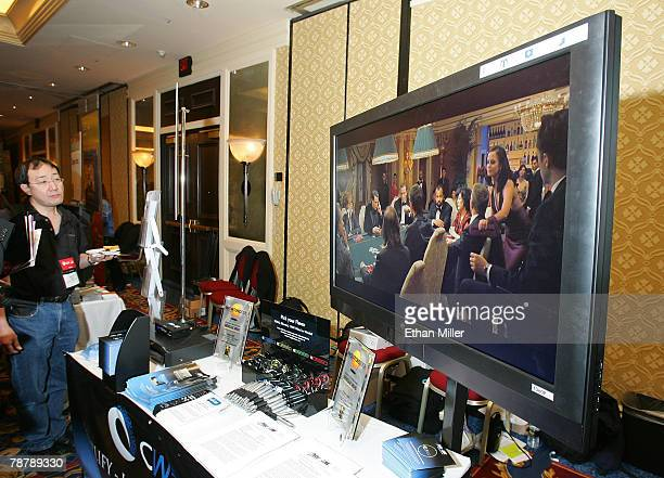 A 47inch Westinghouse Digital Electronics wireless HDTV is displayed during a press event at the Venetian for the 2008 International Consumer...