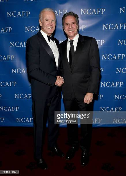 47th Vice President of the United States Joe Biden and Former Deputy Secretary of State Antony Blinken attend the National Committee On American...