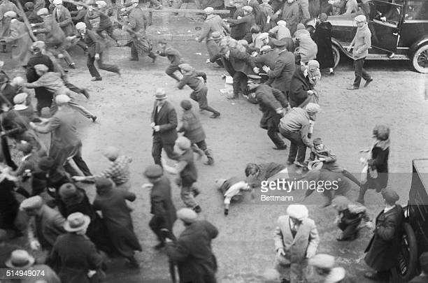 4/8/1926Passaic NJ Children are trampled down men and women injured as enraged police charge the strikers' picket line at the Gera Mills in Passaic