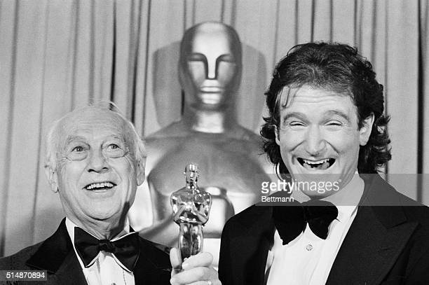 Hollywood, CA: Walter Lentz , creator of the cartoon character Woody Woodpecker, is not smiling as much as presenter Robin Williams, star of TV's...