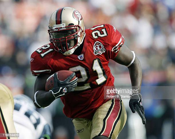 49er runningback Frank Gore rushed for 212 yards as the San Francisco 49ers defeated the Seattle Seahawks by a score of 20 to 14 at Monster Park San...