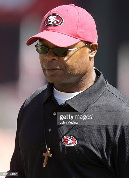 49ers assistant head coach Mike Singletary before the San Francisco 49ers 2013 defeat of the St Louis Rams at Monster Park September 17 2006 in San...
