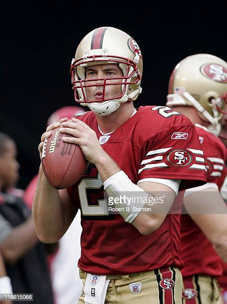 49ers newly signed quarterback Jesse Palmer of the 'Bachelor' TV show fame as the New York Giants defeated the San Francisco 49ers by a score of 24...