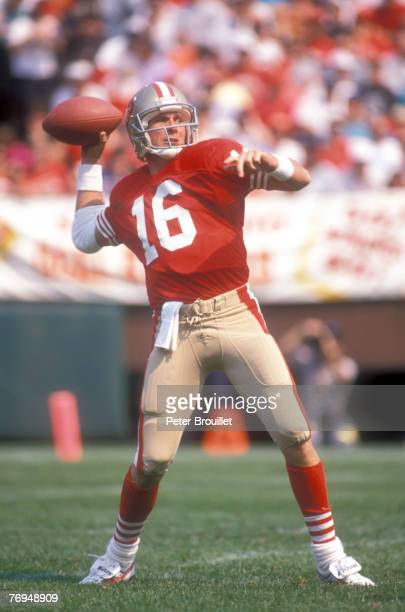 49ers QB Joe Montana file photos in action