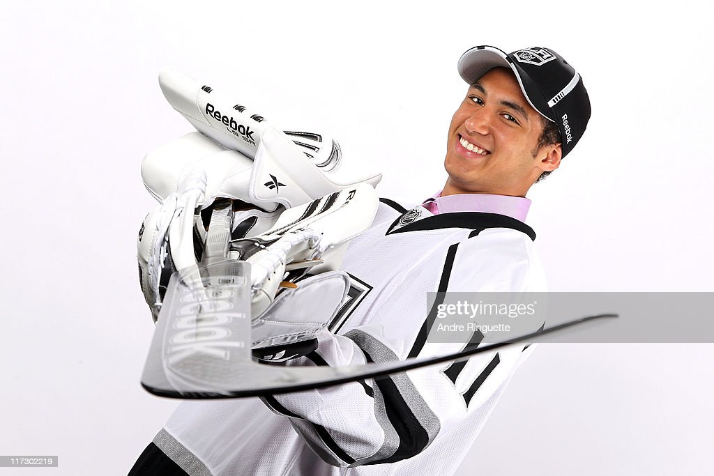 49th overall pick Christopher Gibson by the Los Angeles Kings poses for a photo portrait during day two of the 2011 NHL Entry Draft at Xcel Energy Center on June 25, 2011 in St Paul, Minnesota.