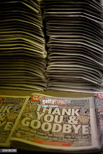 A 4am delivery of the last edition of the News of the World arrives at a Highgate London newsagent Rupert Murdoch's headquarters of News...