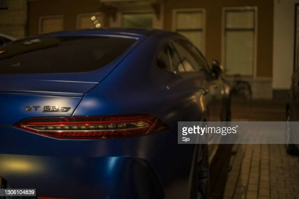 """mercedes-amg gt 63 s 4matic+ 4-door coupé performance sports car - """"sjoerd van der wal"""" or """"sjo"""" stock pictures, royalty-free photos & images"""