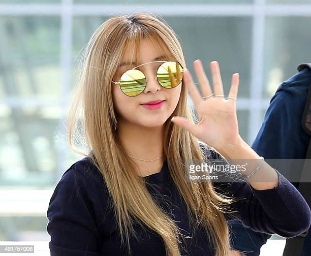 4minute are seen at Incheon International Airport on September 29 2015 in Incheon South Korea