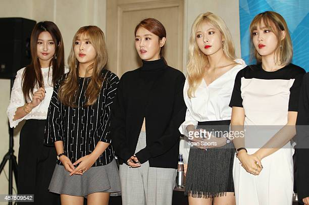 4minute attend the 'Cube Festival' press conference at Raum Arts Center on September 1 2015 in Seoul South Korea