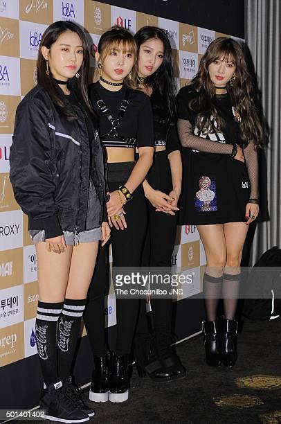 4Minute attend the KOLSA 2015 Korean Lifestyle Award at Conrad Seoul on December 9 2015 in Seoul South Korea