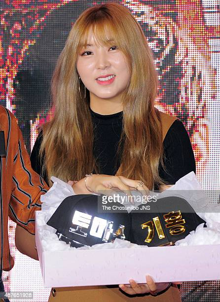 4minute attend the movie 'Maze Runner Scorch Trials' red carpet event at Megabox on September 2 2015 in Seoul South Korea