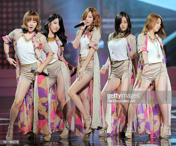 4minute perform during 'Seoul International Drama Awards 2012' at the National Theater of Korea on August 30 2012 in Seoul South Korea