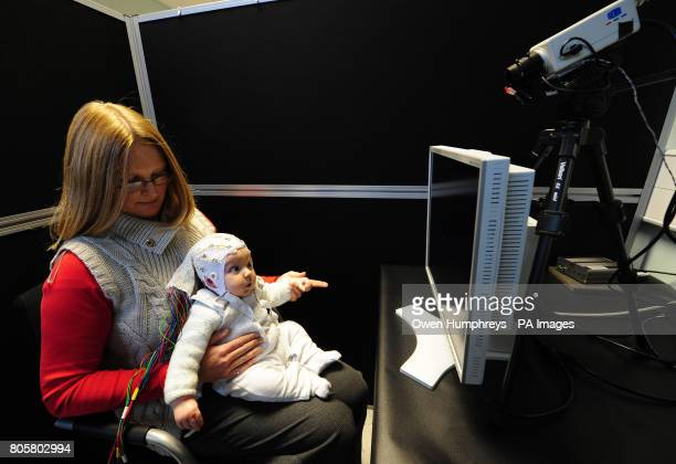 4monthold Matai Reid with her mother Gemma taking part in research by Durham University at the StocktononTees campus to study the development of...
