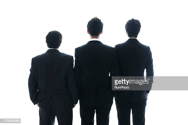 4person business man studio - three people ストックフォトと画像