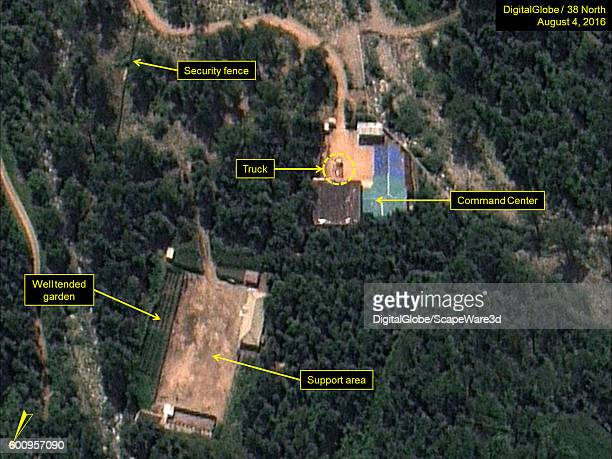 Figure 4 Large truck present in Command Center area Date Aug 4 2016 This image is from the Punggyeri Nuclear Test Site and was featured in the...