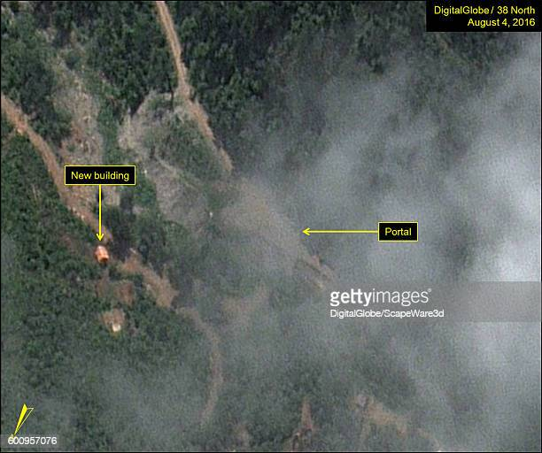 Figure 5B New building erected new the South Portal Date Aug 4 2016 This image is from the Punggyeri Nuclear Test Site and was featured in the...