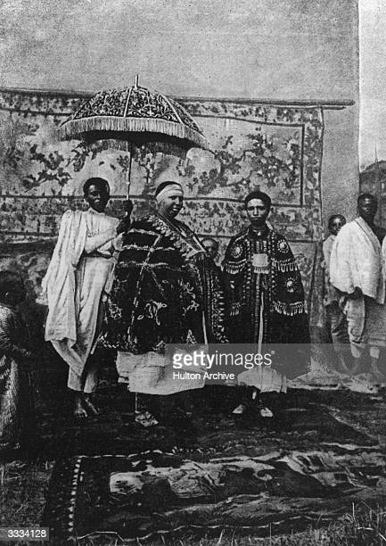 King Menelik II and Queen Taitu Emperor and Empress of Abyssinia Original Publication Illustrated London News