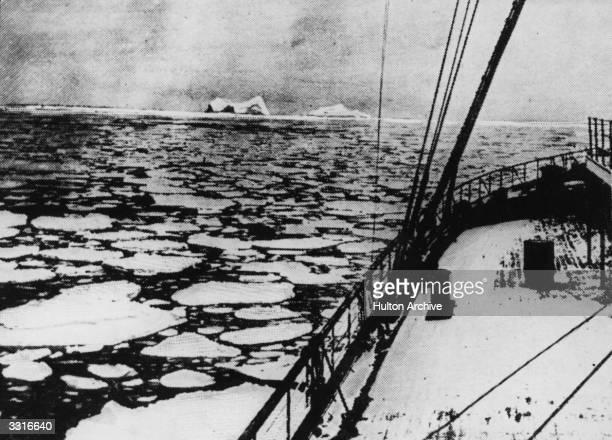 Latitude 41' 46N and longitude 50' 14W the place where the 'Titanic' sank Original Publication The Graphic pub 1912