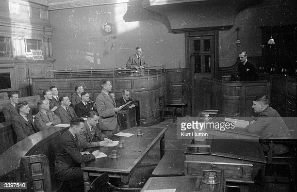 At Wakefield in the West Riding of Yorkshire men from police forces all over Britain are taught court procedure and presentation of evidence as part...