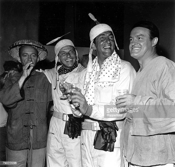 4th August 1961 London England American Singers and entertainers Frank Sinatra and Dean Martin on the set of Road to Hong Kong at Shepperton Film...