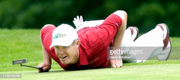 4th DAY 30/5/2004 ERNIE ELS ON THE 1ST GREENduring the Golf Voilvo PGA championship last day at Wentworth GC in England 30th May 2004.