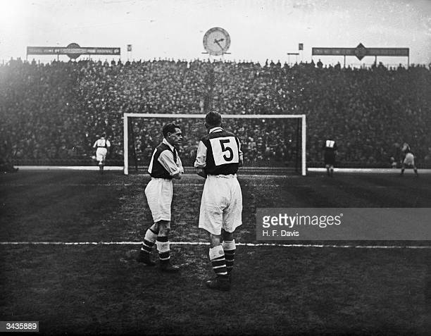 Arsenal plays against 1st Vienna XI at Highbury London