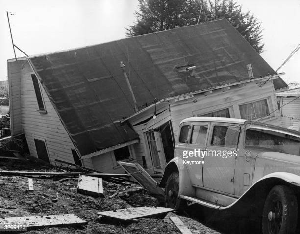 H Glave spent two years building an air raid shelter under his home in Los Angeles California Unfortunately a spate of heavy rains weakened the props...