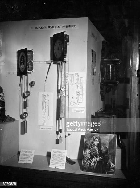 Dutch physicist Christiaan Huygens' pendulum inventions on show at a commemorative exhibition at the Science Museum London