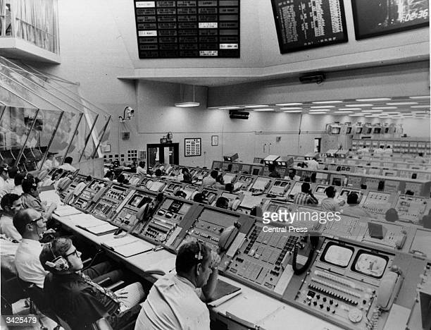 Personnel at the Kennedy Space Centre mission control preparing for the launch of the Apollo 17 lunar mission