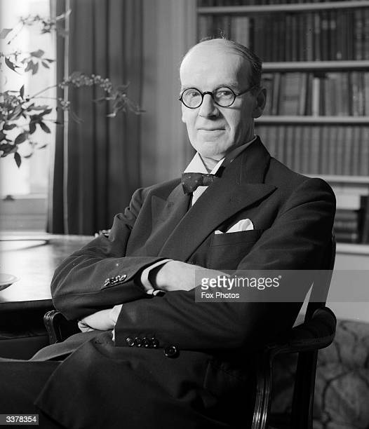 Scottish judge Hugh Pattison in his study. Pattison practised at the Scottish bar, and became a non-political Lord Advocate in the first Labour...