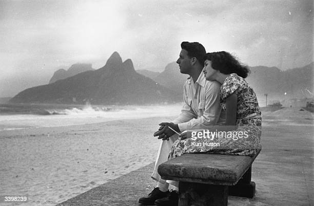 Shop girl Lucy Pereira spends a romantic day on Ipanema Beach in Rio de Janeiro with her boyfriend Original Publication Picture Post 4971 A Shop Girl...