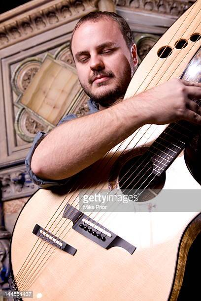 American guitarist Andy McKee posed at the Union Chapel in London on 4th February 2011