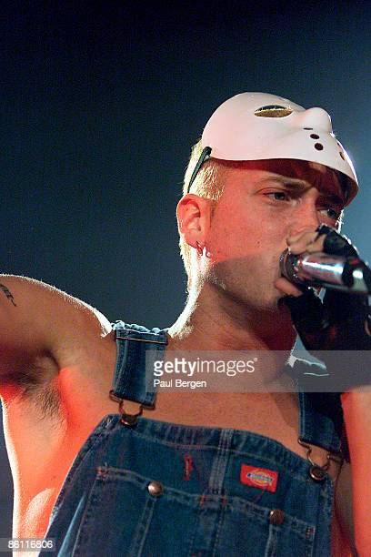 American rap artist Eminem performs live on stage at The Arena in Amsterdam Netherlands on 4th February 2001