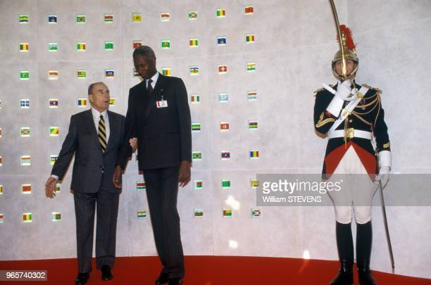 4th Francophony Conference In Paris With Francois Mitterrand And Abdou Diouf From Senegal Paris November 19 1991