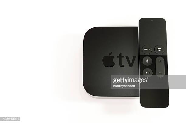 4th generation apple tv - siri mobile app stock pictures, royalty-free photos & images