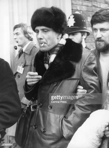 The Russian dissident Vladimir Bukovsky arriving at London Airport on his way to stay with actor David Markham one of the principal campaigners for...