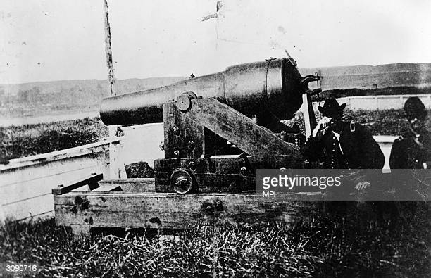 A siege cannon at the Battle of Vicksburg Mississippi