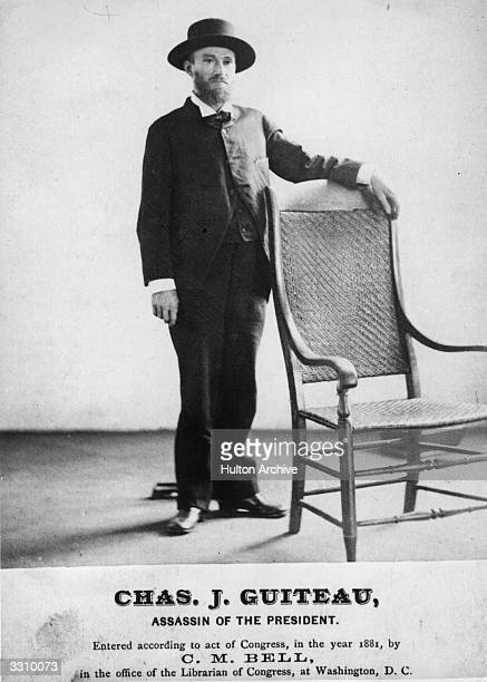 Charles 'Chas' Guiteau the attorney who assassinated American president James A Garfield on 2nd July 1881 and was hanged on 30th June 1882 despite...
