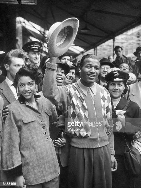 Sugar Ray Robinson born Walker Smith middleweight and welterweight world champion and considered one of the greatest boxers in the world surrounded...