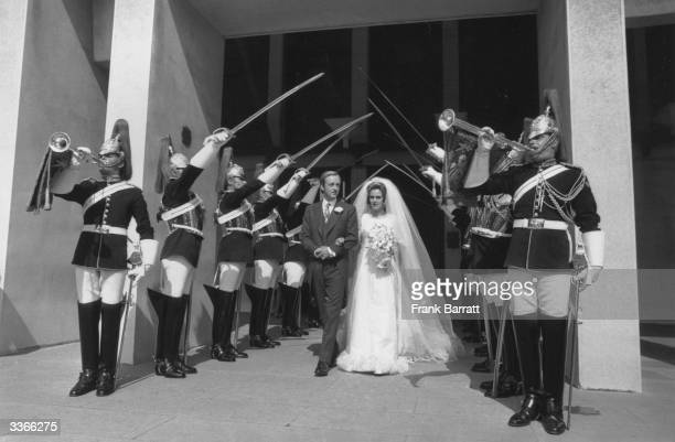 Camilla Shand's Marriage to Andrew ParkerBowles at the Guards Chapel