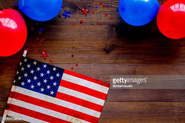 4th greeting card with american flag