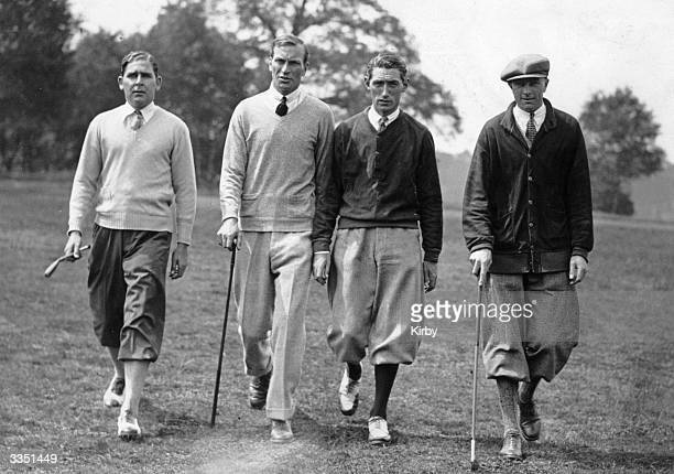 International Golf at Wentworth Park, Virginia Water, Great Britain V America. J Kirkwood , Archie Compston , T Armour and Aubrey Boomer , Britain...