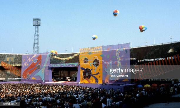 4th JUNE: The J. Geils Band perform live on stage at the Feyenoord Stadium in Rotterdam, Netherlands as support act for The Rolling Stones during...