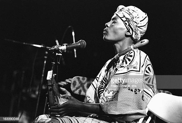 4th MARCH: Zimbabwean musician Stella Chiweshe performs at the Melkweg in Amsterdam, Netherlands on 24th February 1988.