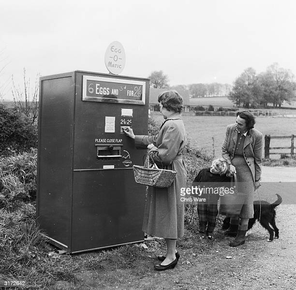 Lady attempts to buy a box of eggs via the new Egg-O-Matic. The brainchild of the innovative engineer Mr Reginald Carter whose efforts to modernise...