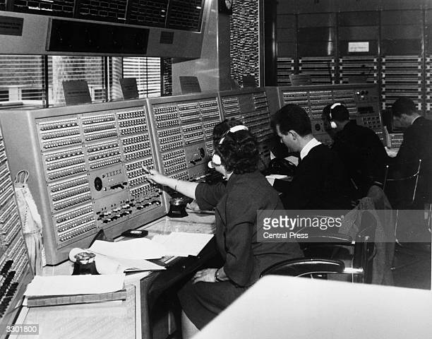 The sound control room at the BBC Broadcasting House London