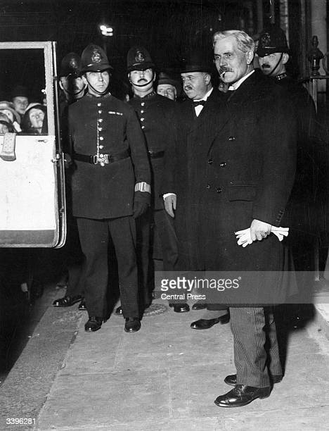 British Prime Minister Ramsay Macdonald leaving Downing Street to hand in his resignation to King George V at Buckingham Palace